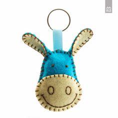 Plush Donkey keychain, Felt Blue donkey keychain, Gray donkey keychain, wool felt plush charm keyring - choice of color Felt Keychain, Felt Brooch, Toy Craft, Key Chain, Chain Rings, Felt Animals, Felt Crafts, Craft Fairs, Wool Felt