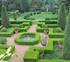 Photos, Photos - Historic Garden Week in Virginia Boxwood Garden, Topiary Garden, Topiaries, Farmington Gardens, Green Architecture, Garden Club, Vegetable Garden, Stepping Stones, Virginia