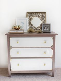 ikea hacks for koppang 3 drawer chest | ... drawer-chest-campaign-inspired-dresser-hack-ikea-hemnes-3-drawer