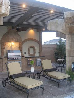 Tan and grill.  Custom decks, outdoor kitchens, heating, patios, trellises, water features, hardscape and fencing, Lewis Builders can turn your front or back yard into your own personal get-a-way and make you the envy of all your neighbors. - www.lewisbuilder.com