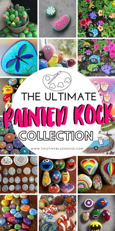 here are 30 fun painted rock ideas that will provide hours of fun! These creative and unique painted rocks are a perfect family friendly activity. Rock Painting Ideas Easy, Rock Painting Designs, Paint Designs, Pebble Painting, Pebble Art, Stone Painting, Dot Painting, Stone Crafts, Rock Crafts