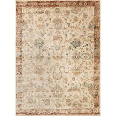 Shop for Contessa Antique Ivory/ Rust Rug (12'0 x 15'0). Get free delivery at Overstock.com - Your Online Home Decor Destination! Get 5% in rewards with Club O! - 18875606