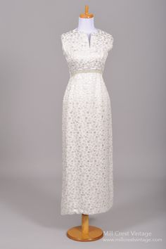 1970 Embossed Vintage Evening Gown