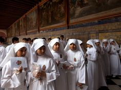 first communion at the Nuestra Señora de la Merced church