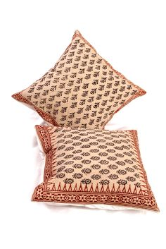 Sanganeri print Cushion covers from Jaipur(Rajasthan) only at Unravel India
