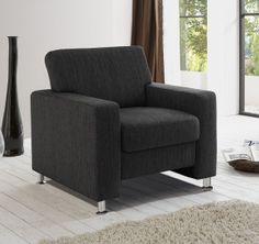Moderner Sessel  NICE  Farbe: anthrazit  Bezug: 74 % Polyester, 26 % Acryl Maße: B/H/T ca. 88/85/95 cm  Artikelnummer: 05130185/00    369,95€