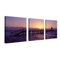 @Overstock - Artist: PrestonTitle: SeascapeProduct Type: Gallery-wrapped canvas art http://www.overstock.com/Home-Garden/Preston-Seascape-3-panel-Art-Set/5515343/product.html?CID=214117 $97.99
