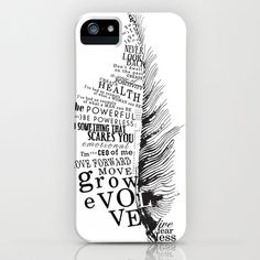 Inspirational Feather iPhone Case by Alanna James - $35.00