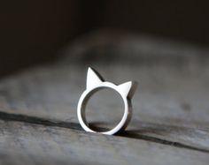 Cat Ring handmade Sterling Silver 925 Bague by Katstudio