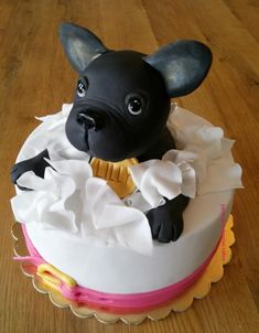 French Bulldog – Playful and Smart Fancy Cakes, Mini Cakes, Cupcake Cakes, Torta Candy, Puppy Birthday Cakes, Bulldog Cake, Puppy Cake, Animal Cakes, Dog Cakes