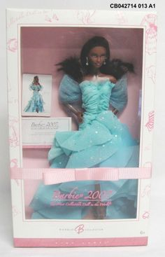 BARBIE Pink Label 2007 African American Turquoise Dress Mattel L9069 New