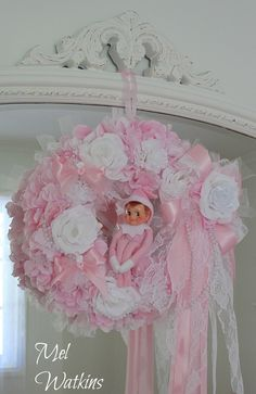 Pink Elf wreath
