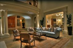 Mercer Island Estate mediterranean living room