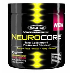 MuscleTech : NeuroCore Super-Concentrated Pre-Workout Stimulant! Energy - Focus - Muscle - Pump - Strength! Supported Goal: Improve workout