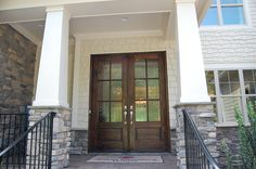 Front Door = Chestnut stain on Mahogany with Flemmish glass