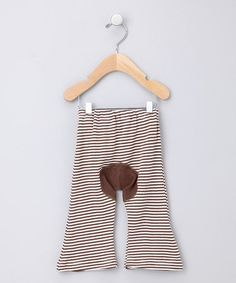 Take a look at this Brown Stripe Organic Pants - Infant by Sckoon Organics on #zulily today!