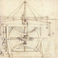 Leonardo da Vinci Flywheel Mechanical Drawing print for sale. Shop for Leonardo da Vinci Flywheel Mechanical Drawing painting and frame at discount price, ships in 24 hours. Da Vinci Inventions, Technical Drawing, Cartography, Custom Posters, Renaissance, Michelangelo, Vintage World Maps, Sketches, Fine Art