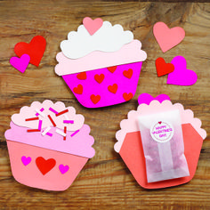 Be sweet and bring a handmade treat to all of your Valentine's!  Valentine Cupcakes Kit at Paper Source
