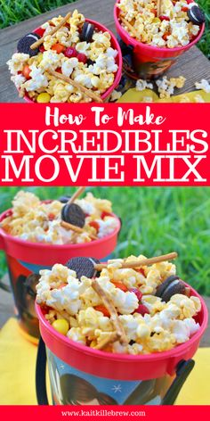 29 Ideas Backyard Movie Night Food Popcorn Recipes For 2019 Disney Party Foods, Disney Food, Disney Tips, Disney Recipes, Disney Parties, Incredibles Birthday Party, Disney Incredibles, Disney Pixar, Disney Movies