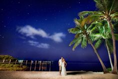 Adventure, Luck, Cherish the occasion, happy connection between night sky, nature and water views because newly weds deserve the best of the world at Key Largo Lighthouse Beach Wedding Venue in the Florida Keys