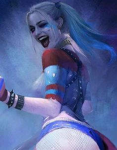 Harley Quinn Drawing, Harley Quinn Comic, Harley Quinn Cosplay, Marvel Girls, Comics Girls, Personnage Dc Comics, Margot Robbie Harley Quinn, Harely Quinn, Joker Art