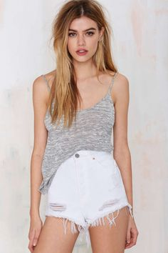 Nasty Gal Sabotage Distressed Cutoffs