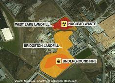 Diagram of West Lake and Bridgeton Landfills