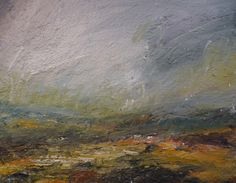 'Approaching Snow, Burbage Moor' by Kristan Baggaley. Oil on canvas, 150cm x…