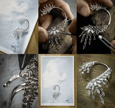 Piaget. ear cuff workshop...♡ Art Deco Jewelry, Jewelry Crafts, Fine Jewelry, Handmade Jewelry, Jewelry Design, Copper Jewelry, Gemstone Jewelry, Jewelry Illustration, Jewellery Sketches