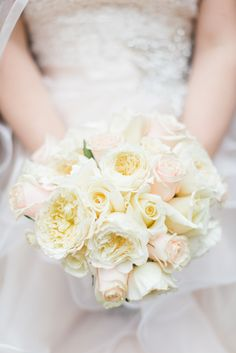 We are IN LOVE with this bouquet!! Knoxville wedding-Peonies-Bridal bouquet-Roses-Shabby Chic wedding-Peony and rose bouquet-Shabby chic bouquet-Knoxville florist-White and pink bridal bouquet-Knoxville wedding florist-Always in Bloom