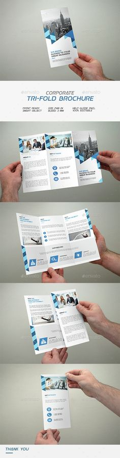Corporate Tri-Fold Brochure Template PSD. Download here: http://graphicriver.net/item/corporate-trifold-brochure/14635934?ref=ksioks
