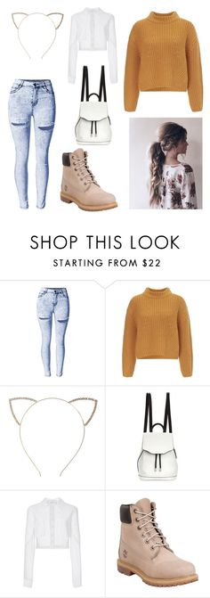 """Shopping day"" by aimee-bisson ❤ liked on Polyvore featuring Lipsy, Cara, rag & bone, Carolina Herrera and Timberland"