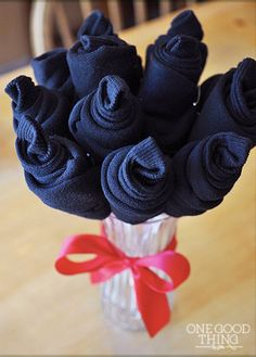 Fathers Day Gifts  Sock bouquet