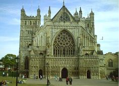 Grand Cathedral in Exeter,England