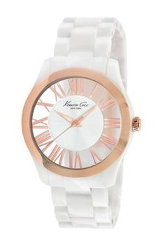 1077976d8dc9 Another great find on Kenneth Cole White   Rose Gold Roman Numeral Watch by  Kenneth Cole