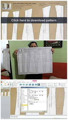 Step by step tutorial on how to enlarge or resize any sewing pattern with Microsoft PowerPoint.