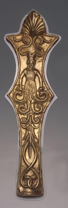 Facing for a Horse's Frontlet Gold; stamped. Scythian culture.  4th century BC, Tsymbalka Barrow, Dnipro Area, Zaporizhia Region, Ukraine.