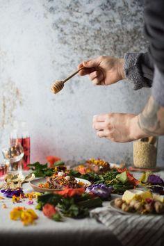 Breakfast Sweet Potato with Hibiscus Tea Yogurt & Turmeric Granola   Vegetarian 'Ventures
