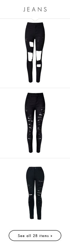 """""""J E A N S"""" by nikkyvanderoer ❤ liked on Polyvore featuring jeans, pants, bottoms, calças, pantalones, destructed skinny jeans, torn skinny jeans, distressing jeans, denim skinny jeans and destroyed denim skinny jeans"""