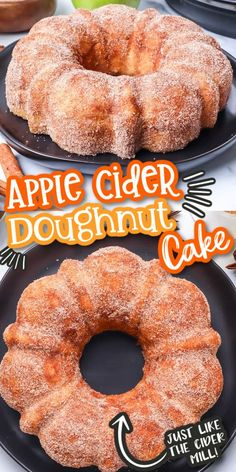 Our Apple Cider Doughnut Cake tastes exactly like an iconic apple cider donut from your favorite apple orchard. This bundt cake is flavorful and moist with an apple cider glaze and cinnamon sugar to top it off. This is going to become a must-have Fall dessert.