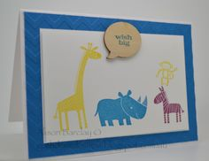 Gothdove Designs - Alison Barclay - my 2nd version of my original card #ZooBabies #ColorCoach #stampinup