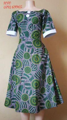 African Ankara round dress