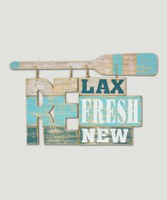 This Wood 'Relax' Wall Sign is perfect! #zulilyfinds