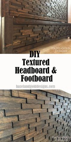 How to make your own textured headboard & footboard, it's easier than it looks! DIY, building, woodworking, diy bed, diy furniture, wood headboard, handmade, handcrafted