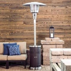 Liquid propane provides steady, smokeless heat that warms your patio quickly. Propane Patio Fire Pit, Outdoor Propane Fireplace, Natural Gas Patio Heater, Tabletop Patio Heater, Fire Pit Accessories, Wood Burning Fires, Fire Glass, Mocha, Lowes
