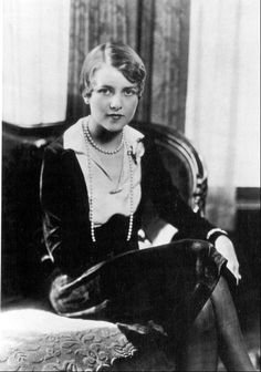 Zelda Fitzgerald, American writer, dancer and Jazz-age belle - died this day in 1948, aged 47, caught in a fire in the sanatorium she had committed herself to for shock therapy…  Zelda is now buried in the same grave as her estranged husband F. Scott Fitzgerald. They share an epitaph that quotes the end of his novel, The Great Gatsby:  So we beat on, boats against the current, borne back ceaselessly into the past.