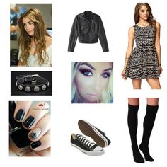 Angelica's #firstdate #outfit is the perfect mix of casual chic--#dress + Chucks. And only $99 for the entire look!