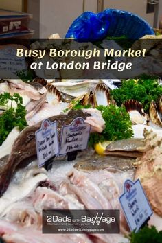 Busy Borough Market at London Bridge bustles with food, drink and people Best Vacation Destinations, Best Vacation Spots, Best Places To Travel, Vacation Trips, Vacations, Borough Market London, Yellow Vegetables, Fresh Oysters, London Bridge