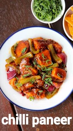 Chilli paneer recipe restaurant style paneer chilli dry cheese chilli dry with a detailed photo and video recipe. An extremely popular indo chinese re Pakora Recipes, Chaat Recipe, Paratha Recipes, Paneer Recipes, Chilli Recipes, Veg Recipes, Vegetarian Recipes, Cooking Recipes, Healthy Recipes