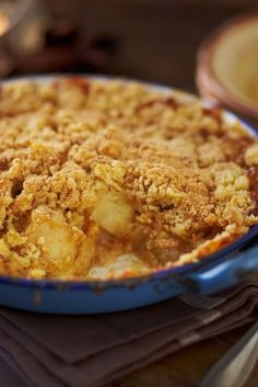 Rustle up a traditional toffee apple crumble to enjoy on Bonfire Night Fall Recipes, Sweet Recipes, Christmas Recipes, Bonfire Night Food, Just Desserts, Dessert Recipes, Tesco Real Food, Fall Baking, Strudel